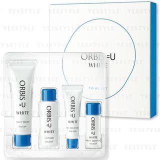 Orbis - =U White Trial Set: Jelly Wash 20g + Lotion 20ml + Day Moisture 8g + Night Moisture 5ml 4 pcs