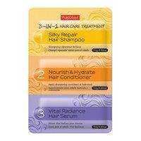 PUREDERM - 3-in-1 Hair Care Treatment: Silky Repair Hair Shampoo 10g + Nourish & Hydrate Hair Conditioner 10g + Vital Radiance Hair Serum 10g 30g
