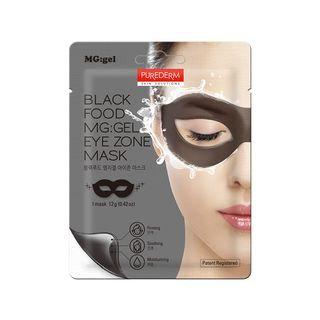 PUREDERM - Black Food MG: GEL Eye Zone Mask 1pc 1pc