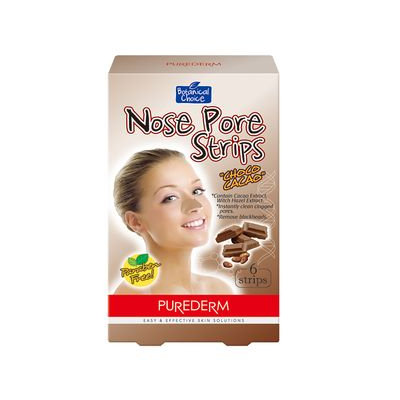 PUREDERM - Choco Cacao Nose Pore Strips 6pcs 6pcs