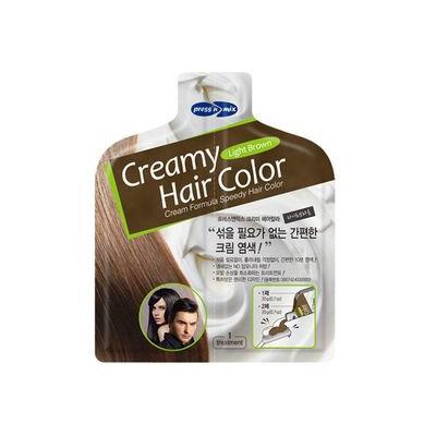PUREDERM - Creamy Hair Color (Light Brown): Hair Color 20g + Developer 20g 20g + 20g