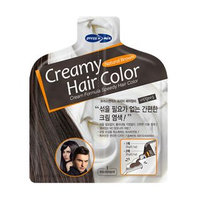 PUREDERM - Creamy Hair Color (Natural Brown): Hair Color 20g + Developer 20g 20g + 20g