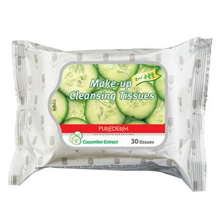 PUREDERM - Cucumber Make-up Cleansing Tissues 30pcs 30pcs