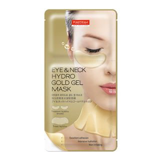 PUREDERM - Eye & Neck Hydro Gold Gel Mask: Eye Mask 1pair + Neck Mask 1pc 1pair + 1pc
