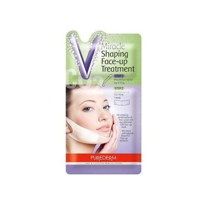 PUREDERM - Miracle Shaping Face-Up Treatment: Gel 5g + CO2 Mask 1pc 5g + 1pc