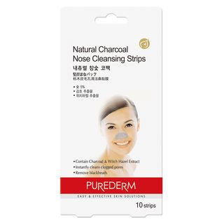 PUREDERM - Natural Charcoal Nose Cleansing Strips 10pcs 10pcs