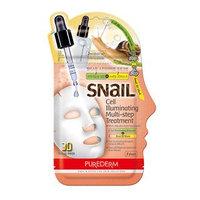 PUREDERM - Snail Cell Illuminating Multi-Step Treatment: Ampoule 2ml + Snail 3D Mask 23ml 25ml