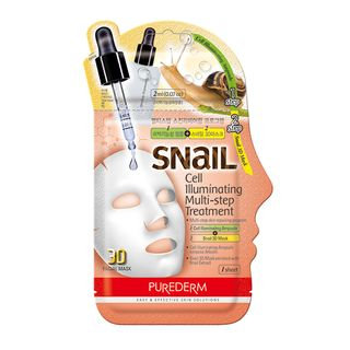 PUREDERM - Snail Cell Illuminating Multi-Step Treatment: Ampoule 2ml + Snail 3D Mask 23ml 25ml