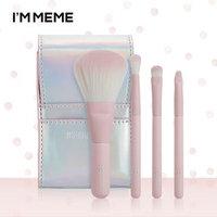 MEMEBOX - I'M MEME I'm Mini Pink Brush Set: Shading Brush 1pc + Blending Brush 1pc + Eyeshadow Brush 1pc + Eyeshadow Point Brush 1pc 4pcs