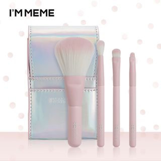 MEMEBOX - I'M MEME I'm Mini Pink Brush Set: Shading Brush 1pc + Blending Brush 1pc + Eyeshadow Brush 1pc + Eyeshadow Point Brush 1pc 4pcs