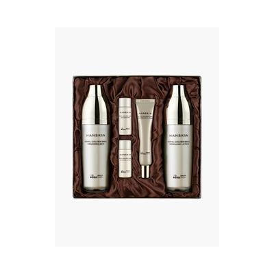 Hanskin - Royal Golden Snail Renewing Basic Care Set: Skin 130ml + 15ml + Lotion 130ml + 15ml + Eye Cream 5pcs