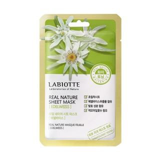LABIOTTE - Real Nature Sheet Mask (Edelweiss) 1pc 18g