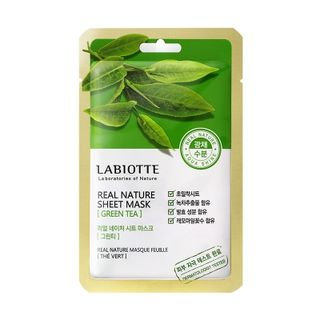 LABIOTTE - Real Nature Sheet Mask (Green Tea) 1pc 18g