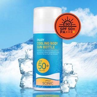 SCINIC - Enjoy Cooling Body Sun Bottle SPF 50+ PA++++ 120ml 120ml
