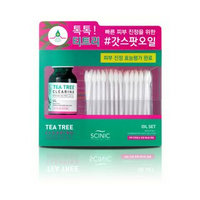 SCINIC - Tea Tree Clearing Oil Set: Oil 18ml + Cotton Swab 60pcs 18ml + 60pcs