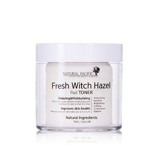 NATURAL PACIFIC - Fresh Witch Hazel Pad Toner 70pcs 100ml
