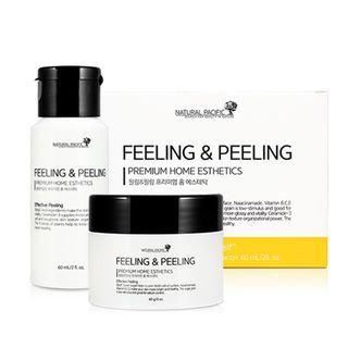 NATURAL PACIFIC - Peeling & Peeling: Sugar Scrub 60g + Cleanser 60ml 60g + 60ml