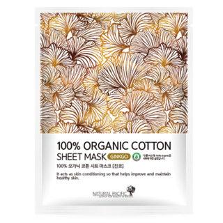 NATURAL PACIFIC - 100% Organic Cotton Sheet Mask Ginkgo 1pc 25g