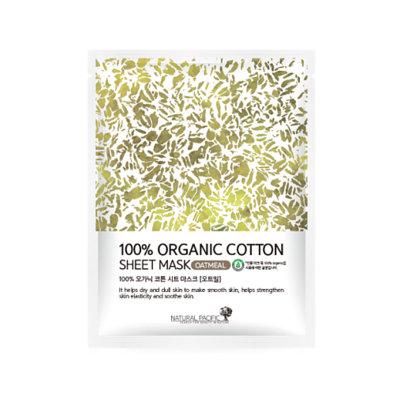 NATURAL PACIFIC - 100% Organic Cotton Sheet Mask Oat 1pc 25g