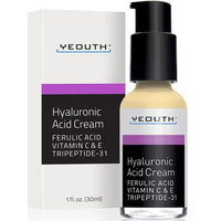 Hyaluronic Acid Cream Face Moisturizer for Dry Skin, Anti Aging Face Cream, Anti Wrinkle, Pore Minimizer, Even Skin Tone with Vitamin C, Vitamin E, Ferulic Acid, Tripeptide 31 - YEOUTH Guaranteed