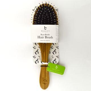 Beauty by Earth - Boar Bristle Hair Brush 10.5 x 3 x 1.5 inches