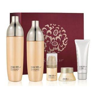 Su:m37 su: m37 - Blossom Garden Special Set: Skin 155ml + Lotion 135ml + Essence 5ml + Cream 10ml + Skin Saver Essential Cleansing Foam 40ml 5pcs