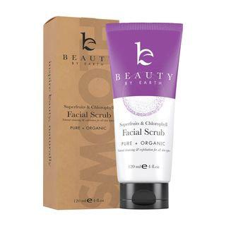 Beauty by Earth - 2-in-1 Exfoliating Facial Scrub & Cleanser, 120ml 120ml / 4 fl oz