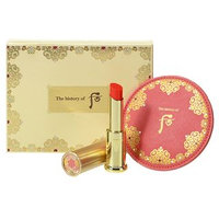 The History of Whoo - Gongjinhyang Mi Glow Lip Balm (Red) SPF10 Special Set: Lip Balm 1pc + Hand-Sized Mirror 1pc 2pcs