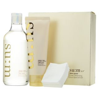 Su:m37 su: m37 - Skin Saver Pure Cleansing Duo Set: Essential Pure Cleansing Water 400ml + Pure Effect Cleansing Foam 120ml + Cotton Pads 3pcs