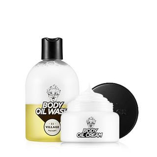 VILLAGE 11 FACTORY - Relax-day Body Oil Wash and Cream Set: Wash 300ml + Cream 200ml 300ml + 200ml