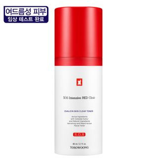 TOSOWOONG - SOS Intensive Red Clinic Ovalicin Skin Clear Toner 80ml 80ml