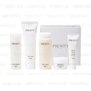 TBC - Prenity Trial Set: White Cleansing 20ml + White Wash 15g + White Lotion 30ml + White Cream 5g + UV White Cream SPF 50+ PA++++ 5g 5 pcs