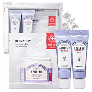 DERMATORY - Hypoallergenic Cica Trial Kit: Cica Cream 10ml + Cica Gel Cream 10ml + Gauze Pad 3sheets 3pcs