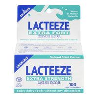 Lacteeze Lactase Enzyme Chewable Tablets