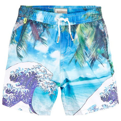 Wave Print Swimshorts in a Bag