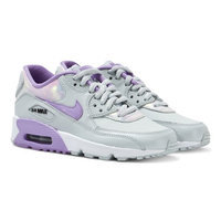Silver and Lilac Air Max 90 Trainers