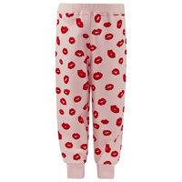 Pink Print Sweat Pants