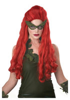 Sexy Poison Ivy Pompadour Red Curly Cosplay Costume Wig