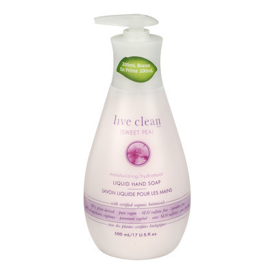 Live Clean Sweet Pea Moisturizing Liquid Hand Soap