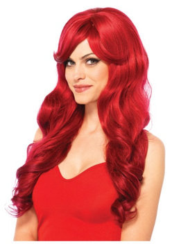 Leg Avenue Womens Long Wavy Red Wig Halloween Accessory