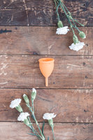 Lunette Menstrual Cup- Coral / Orange