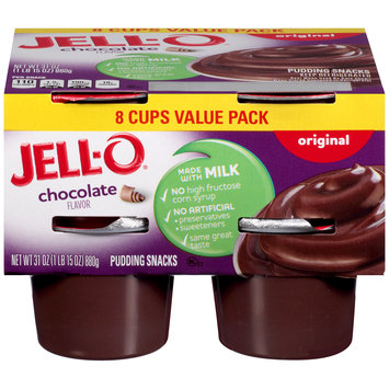 Jell-O Ready to Eat Sugar Sweetened Chocolate Pudding Snack