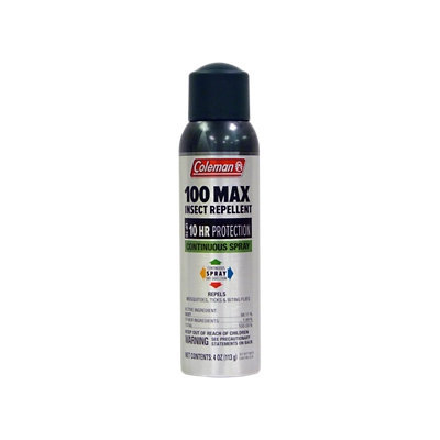 Coleman 100% 4 oz Deet Insect Repellent Continuous Spray - 7494