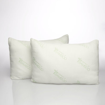 Essence of Bamboo 2-pack 300 Thread Count Natural Latex Plus Pillow, White