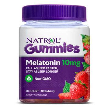Melatonin Gummies 10 mg Chewable - Strawberry Flavor, 90 Gummies, Natrol
