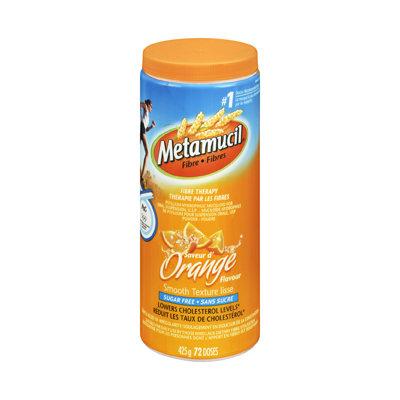 Metamucil Fibre Smooth Texture Powder, Sugar Free - Orange