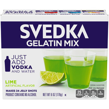 Svedka Lime Gelatin Mix