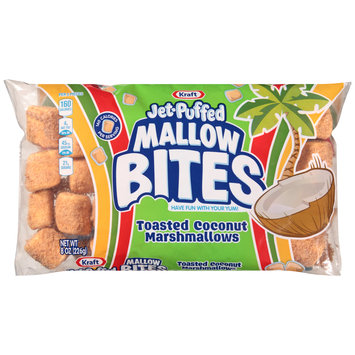 Jet-Puffed Mallow Bites Toasted Coconut Flavored Marshmallows