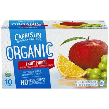 Capri Sun Organic Fruit Punch Juice Drink
