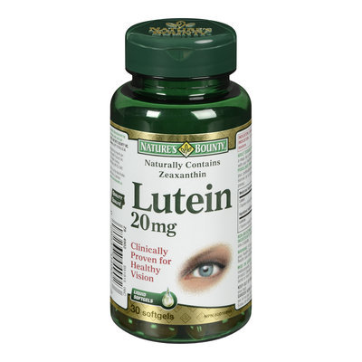 Nature's Bounty Lutein, 20 mg, 30 Softgels